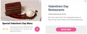Display Ads for Restaurant for Valentine's Day