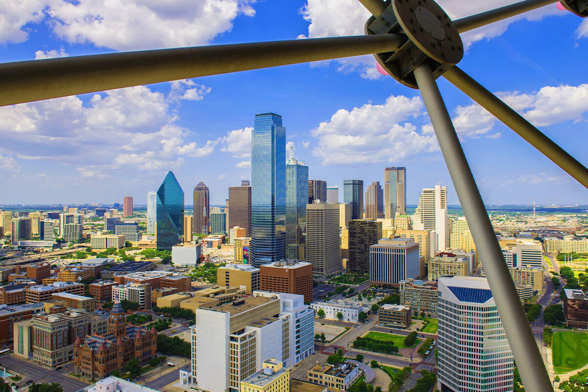 View from the Reunion Tower in Dallas, TX