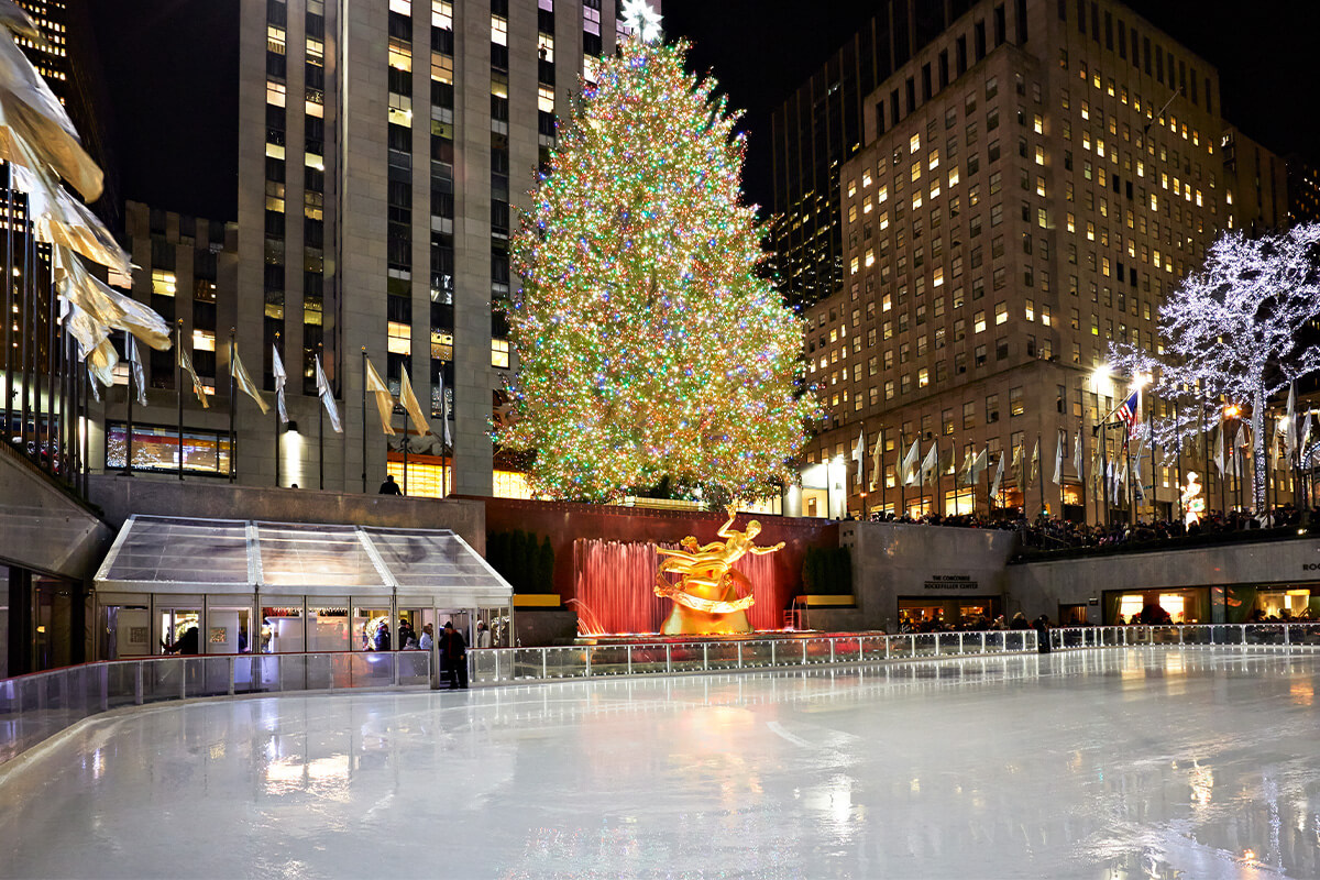 The Rink at Rockefeller Center in the Winter